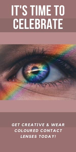 Coloured contact lenses celebration